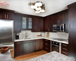 Full condo renovation concrete kitchen
