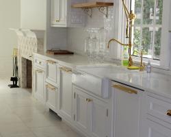 Custom white shaker cabinets