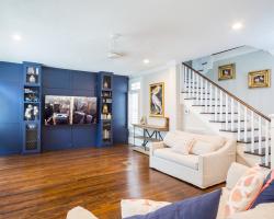 Custom blue cabinets