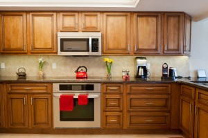custom cabinets in luxury kitchen
