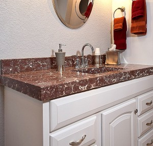 Concrete Countertop in Bathroom