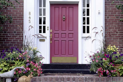 Front Door Color Custom Home