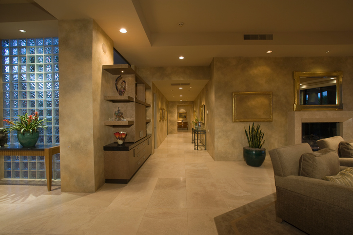 beautiful high-end home with venetian plaster walls