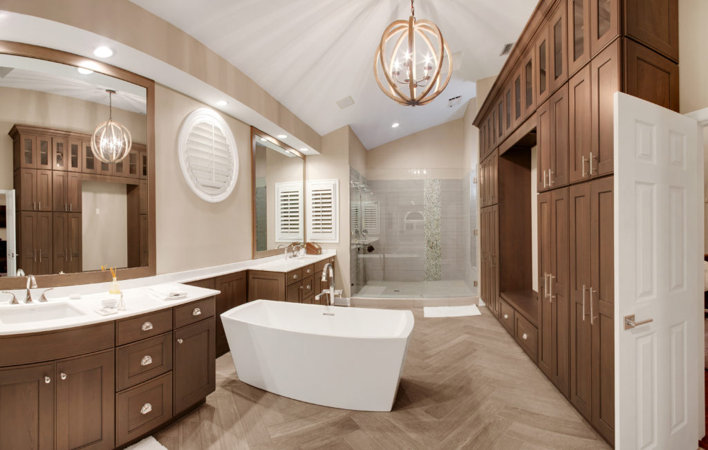 Custom Cabinets and Tub in Master Bath
