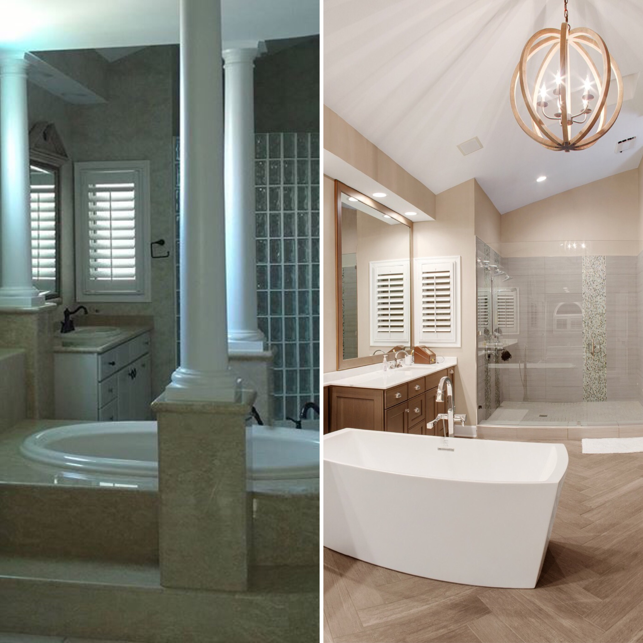 Island Estates Bathroom Before and After