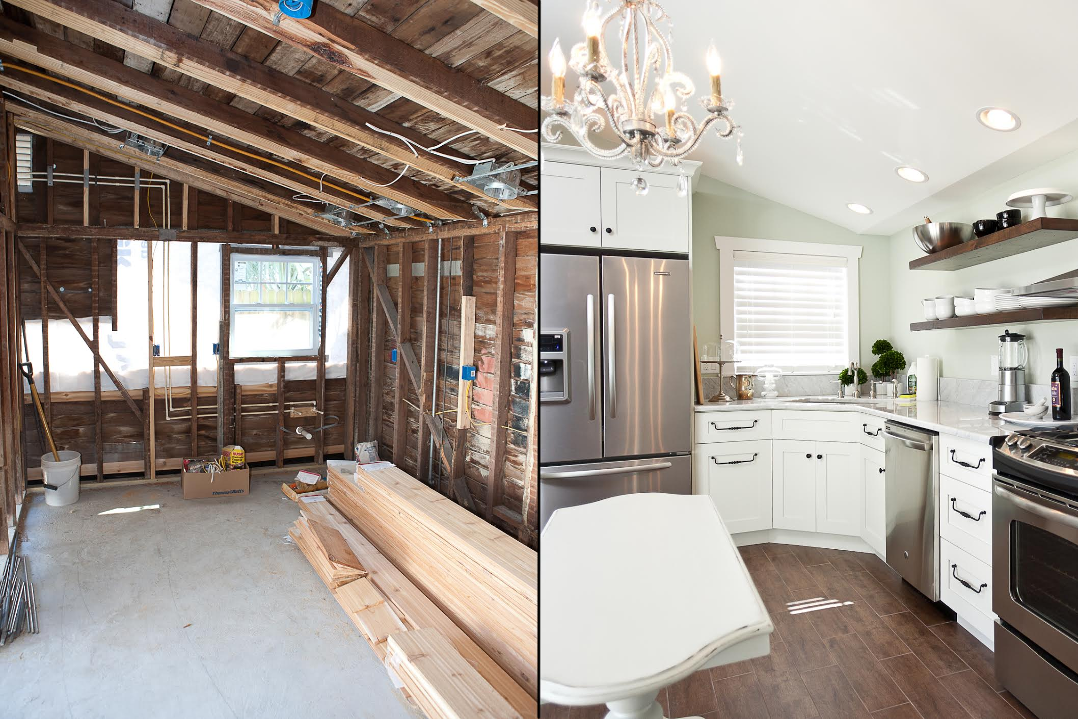 Clearwater kitchen before and after