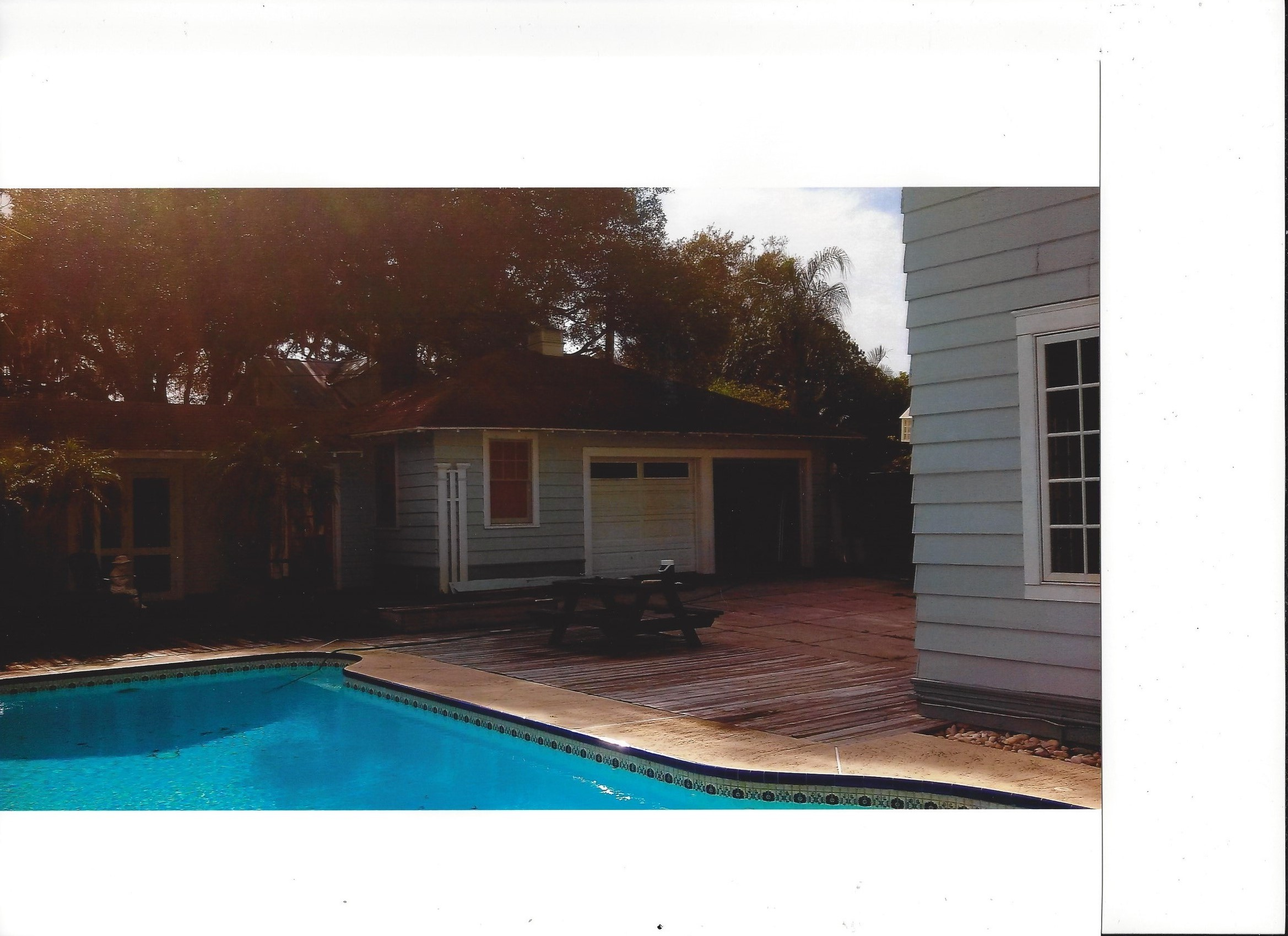 Clearwater pool house before
