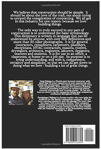 Construction Terms Back Cover
