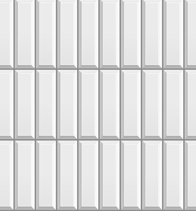 Vertical straight stack tile pattern